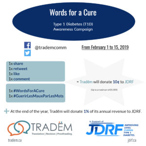 #WordsForACure: Every interaction translates into action in the fight against T1D.